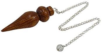 HARMONIZE Egyptian Health Energized Healing Pendant Tear Drop Wooden Chakra Pendulum Dowsing