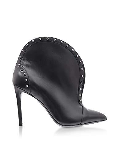 Balmain Luxury Fashion Damen W8FC636PGDB176 Schwarz Leder Stiefeletten | Jahreszeit Permanent