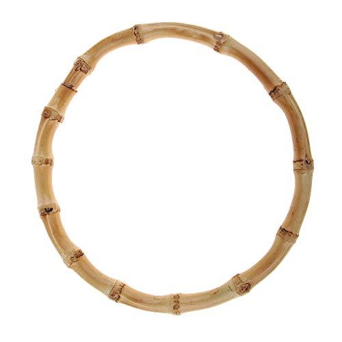 Hellery Rund Taschengriffe aus Bambus Bambusgriff Taschenhenkel DIY Handarbeit, Tasche, Griff