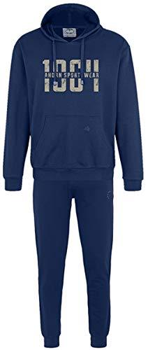 Ahorn Sportswear grote maten joggingpak 1964 Gravel Alpine Blue