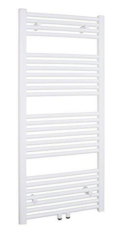 SixBros. R18 Badheizkörper (1200 x 600 mm, 647 Watt) - Heizkörper mit Handtuchhalter für das Bad - pulverbeschichtet - weiß