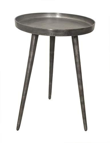Aspect Maxine Tripods Metal Side Table (Antique Silver), 38 Ø x 55 H cm