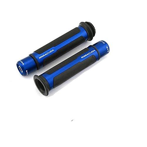 Empuñaduras de Moto Manillar para Suz&uki para GSXR 750 SV 650 para CBR para Yam&aha para TMAX 22mm 7/8 '' Empuñaduras Antideslizantes De Motocicleta Empuñaduras Y Extremos Manillares (Color : Azul)