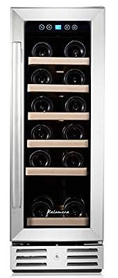 Kalamera 30cm Wine fridge19 Bottle 70L Freestanding Undercounter Cooler Cabinet built in stainless steel from Kalamera