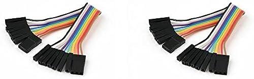 alta calidad general 2 x Quantity of Walkera QR X350 PRO FPV FPV FPV (100mm) Super Clean RC Male to Male Ribbon Extensions Set(Servo Connector) - FAST FREE SHIPPING FROM Orlando, Florida USA   oferta de tienda