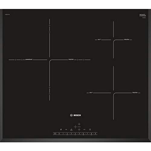 Bosch Serie | 6 PID651FC1E Plaque à induction Encastrable Acier inoxydable Verre Céramique Avec commandes tactiles Noir