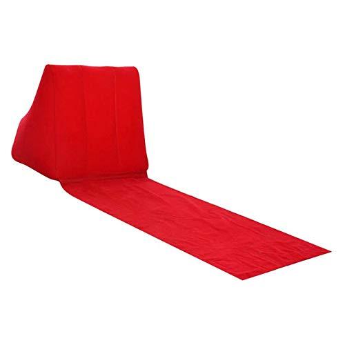 BANGSUN Aufblasbare Luftliege, Sessel, Sofa, PVC, beflockt, Couch, Bett, für Outdoor, Strand, Rot