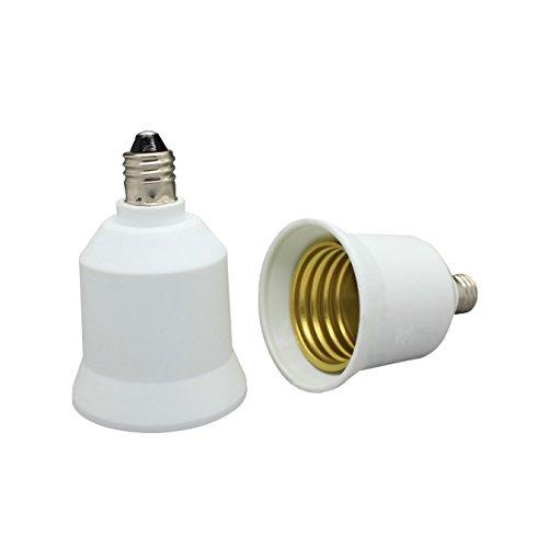Shangge CE&ROHS Certification E11 To E27/E26 Male E11 To Female E27/E26 LED Bulb Base Converter Halogen CFL Light Lamp Adapter Socket Change PBT Pack of 5 Pcs