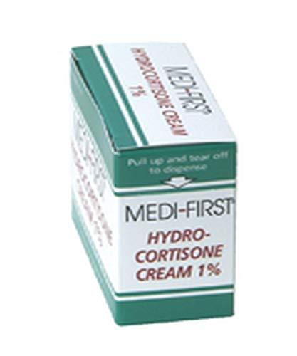 Medique MP21173 Medi-First 1% Hydrocortisone Cream, 0.9 g, Standard, Green/White (Pack of 25)