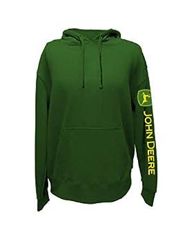 John Deere Western Sweatshirt Mens Screen Print L JD Green 13021942