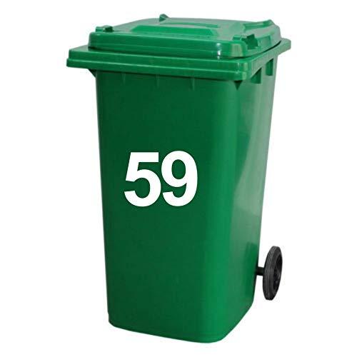 N2 3 pegatinas adhesivas para cubos de basura grandes con números de casa con ruedas personalizables, número adhesivo para cubos de reciclaje, ventanas y puertas