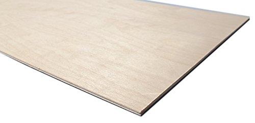 Trustleaf Sperrholzplatte Birke, 3mm, DIN A4, 300x 210x 3mm, laserbar, geringe Schadstoffentwicklung, Klebstoff der Emissionsklasse E1, 4 Stück