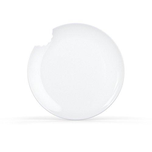 Fiftyeight Kuchenteller mit Biss - 6er Set - 20 cm, weiß