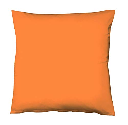 Fleuresse Colours Kissenbezug, Mako Satin, Orange, 80 x 80 cm