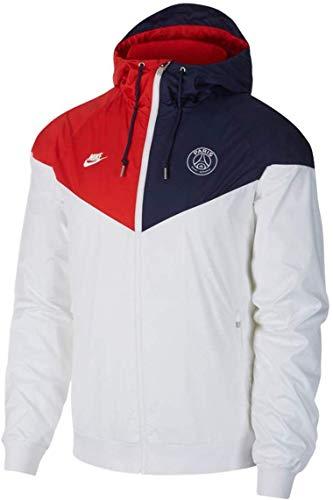 Nike Herren PSG M NSW WR WVN AUT CL Sport Jacket, White/Midnight Navy/University red/White, S