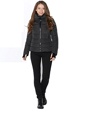 MISS SUN SIB-V111 Damen Steppjacke mit Stehkragen SNOWIMAGE originals Woman Padded Short Jacket Hoodie Slim Pad