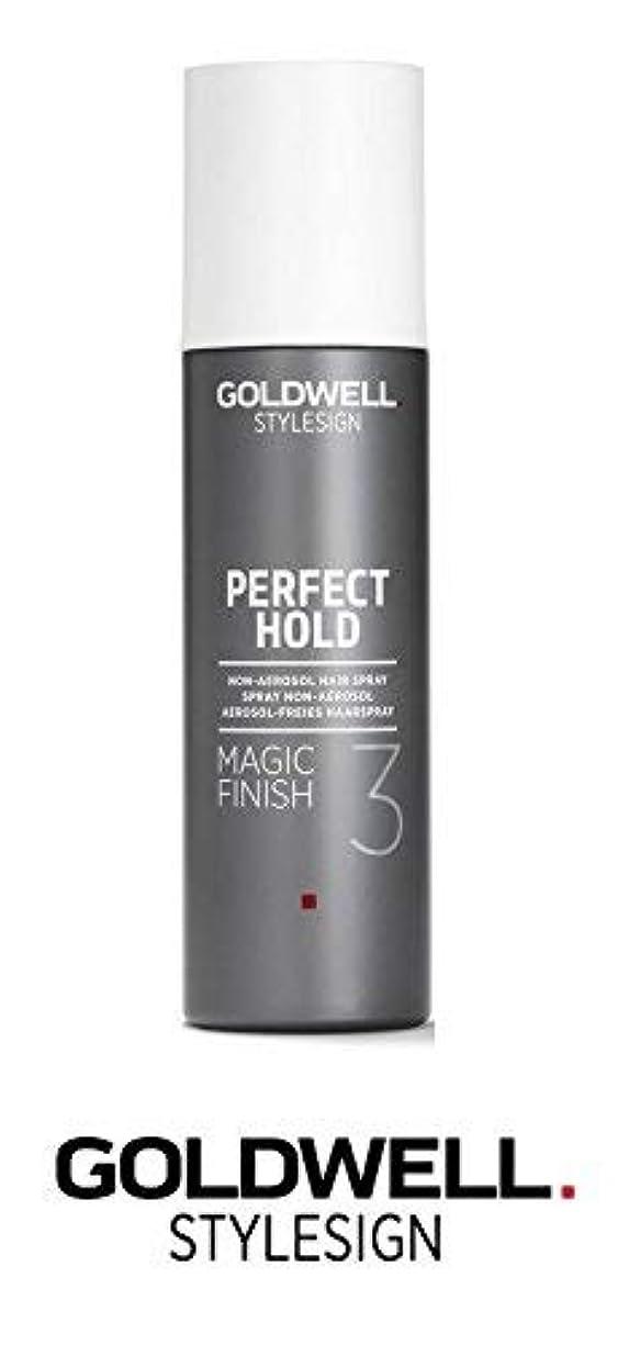 Goldwell Stylesignパーフェクトホールドマジックフィニッシュ3非エアゾールヘアースプレー - 6.3オンス(と洗練されたスチールピンテールコーム)