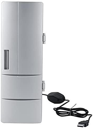 VTAMIN Frigorífico Mini USB Frigorífico Congelador Cans Beber Cerveza Más Enfriador Calentador Viaje Refrigerador Icebax Coche Oficina de Coche Portátil