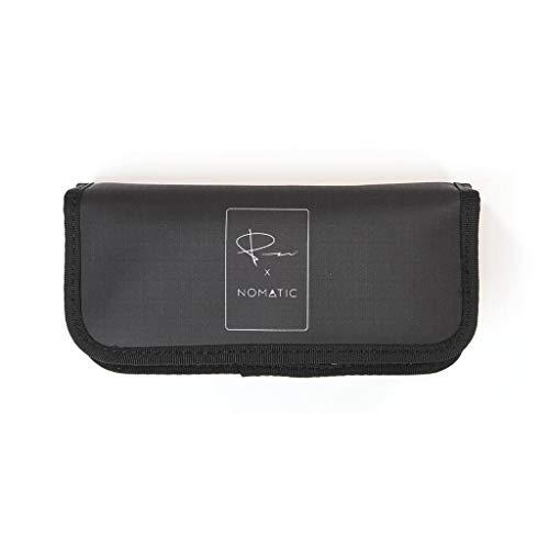 NOMATIC McKinnon Battery Case- DSLR Camera Battery Bag/Case/Holder with Magnetic Closure for 3 Batteries