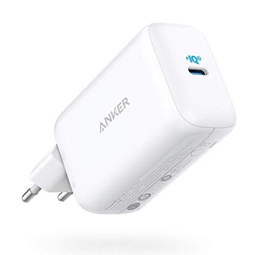 Anker PowerPort III Pod 65W, Carregador de Parede USB-C, Carregamento Rápido PIQ 3.0 com PPS, para MacBook, Dell XPS 13, Galaxy S21 / S20 / S10, Note 10, iPhone 12/11 / XR/Xs/X, iPad Pro e mais