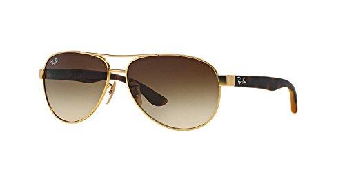 Ray-Ban Unisex-Erwachsene RB3457 Sonnenbrille, Gold (Gold Matte), 59 mm