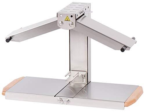 Louis Telier – Raclette-Gerät aus Edelstahl – Größe geeignet für 1/4 oder 1/6 Schleifscheiben – 1 bis 4 Personen – Heizrampen verstellbar – faltbar – Sicherheitsschalter – 230 V