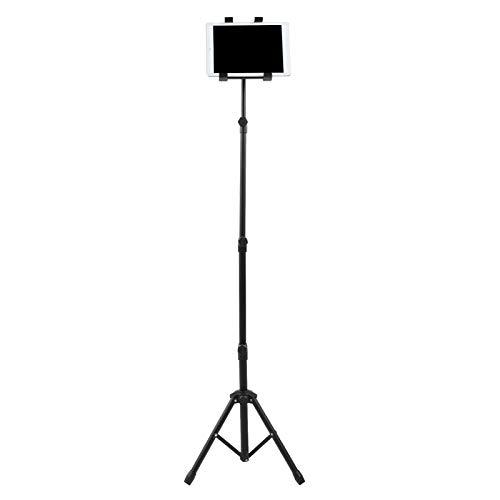 Asixxsix Soporte de Piso para Tableta Giratorio de 360 Grados, trípode para Tableta, Ajustable, fácil de Instalar para Ver películas en casa, Oficina o Sala de exposiciones