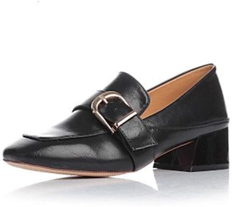 LvYuan-GGX Damen High Heels Komfort PU Herbst Winter Lässig Blockabsatz Schwarz 2,5-4,5 cm, schwarz, us7.5   eu38   uk5.5   cn38 B074CXKC4D  Elegante und stabile Verpackung
