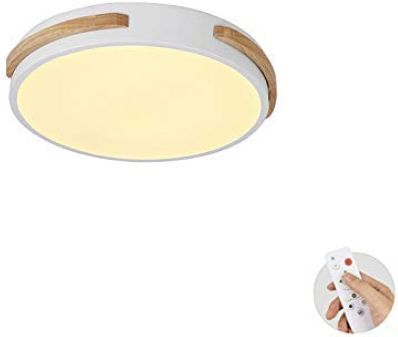 TopDeng Runde Deckenleuchte Unterputz LED 18w, Moderne Deckenleuchte Leuchte Küche Schlafzimmer Kinderzimmer Wohnzimmer Flur-Fernbedienung-E 31x5 ( Farbe   Remote Control-a , Gre   31x5cm )