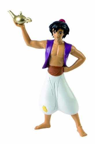 Bullyland 12454 - Spielfigur, Walt Disney Aladdin, ca. 10,5 cm groß, liebevoll handbemalte Figur, PVC-frei, tolles Geschenk für Jungen und Mädchen zum fantasievollen Spielen