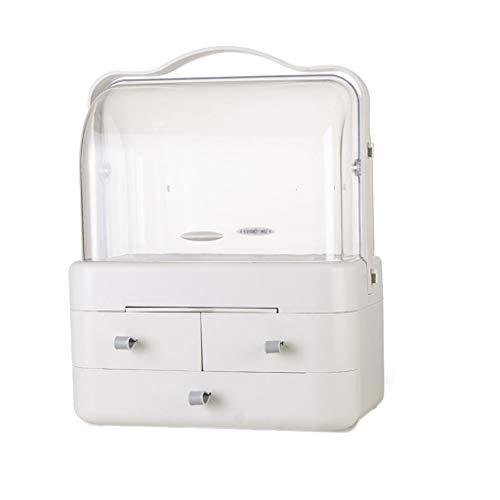 Premium maquillage maquillage cosmétique organisateur maquillage affichage vanité cas stand avec 3 tiroirs 3 miroir (Taille : A)