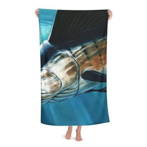 Toallas y Mantas de baño Sailfish Oil Painting Beach Towels Oversized Microfiber Bath Towels, Big Beach Towel, Quick Dry, Travel Accessories Gifts, Cute Beach Towel for Women, for Men 🔥