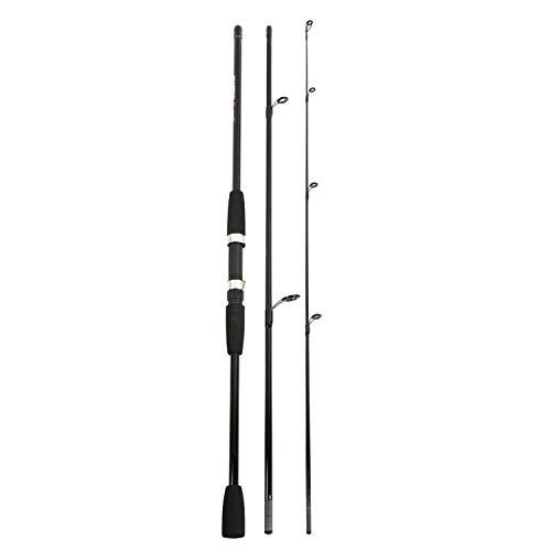 Love essentials 1.8/2.1M Caña de Pescar de Fibra de Vidrio Spinning Caña de Pescar de Mano eléctrica Caña de señuelo Caña de fundición Desmontable de 3 Secciones Pesca de Spinning-SA-1.8 m