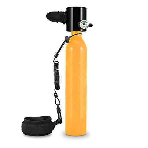 CYJ Equipo De Oxígeno para Bucear Bombona Oxigeno Portatil Mini Botella De Buceo De 0.5 Litro con Capacidad De 5-10 Minutos Buceo De Oxígeno del Mini Tanque