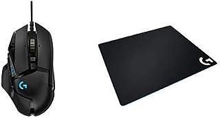 ゲーミングマウス ロジクール Logicool G502RGBh HEROセンサー ウェイト調整 LIGHTSYNC RGBライト 耐久性 PUBG FPS + LOGICOOL ロジクール G640r ラージ クロス ゲーミング マウスパッド セット