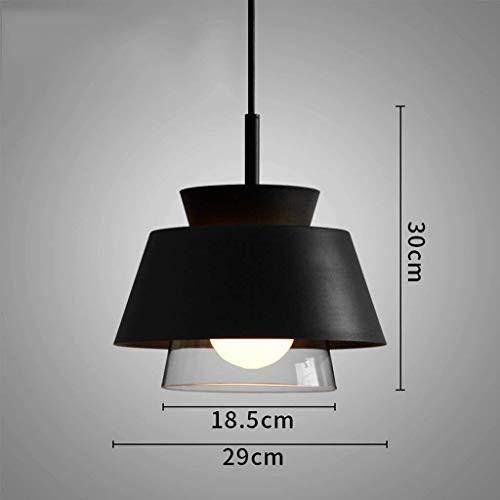 BXU-BG Lámparas colgantes o de estilo industrial creativo sencillo Araña Bar Restaurante Sala Cafe Tienda de ropa de la lámpara, Negro (Color : Black)