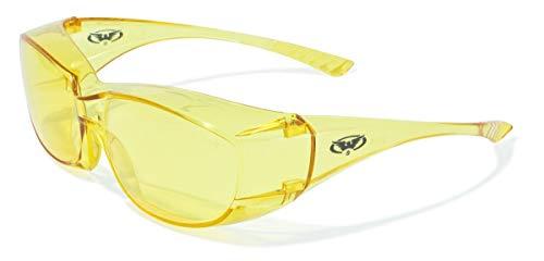 Global Vision Eyewear Oversite Série Lunettes de sécurité, Jaune