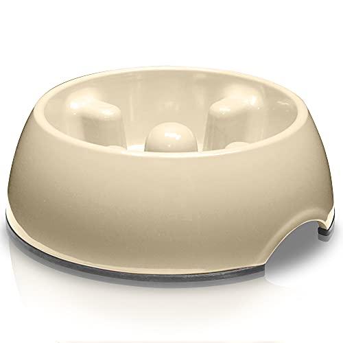 Dogit Go Slow Anti-Gulping Dog Bowl, Slow Feeding Dog Dish Suitable for Wet...