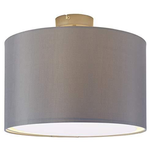 Brilliant Clarie Deckenleuchte 1-flammig, E27, 1 x 60 W, metall/textil, eisen/grau 13291/22