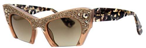 Miu Miu Raisor MU02QS gafas de sol, Marrón (Talc TV01X1), Talla única (Talla del fabricante: One size) para Mujer