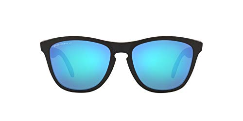 OO9428 Frogskins Mix Sunglasses, Matte Black/Prizm Sapphire Polarized, 55mm