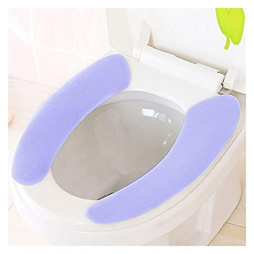 ENJY Cuscino del Sedile del Water 4 Paia di Cuscini di Servizi igienici appiccicosi Sono Cuscini da Bagno Super Morbidi, riutilizzabili e Caldi del Bagno (Color : Light Purple)