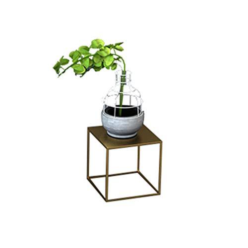 LM Nordic Simple Flower Stand Plant Display Stand, Vloerstaande Geometrische Smeedijzeren Rack, Woonkamer Slaapkamer Veranda Tv Kast Hoek Decoratief Frame