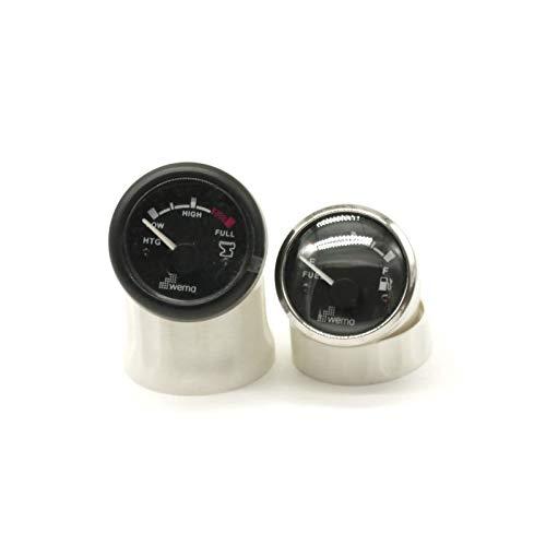 Wema 2 indicadores de nivel de llenado, color negro, para agua sucia y combustible (52 mm)