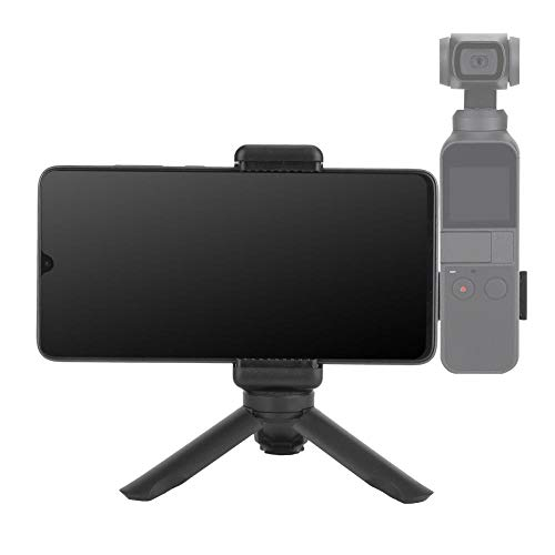 Mugast camerastatief, draagbaar statief van hoge kwaliteit voor DJI OSMO Pocket Compaitble met mobiele telefoon breedte van 6-10 cm