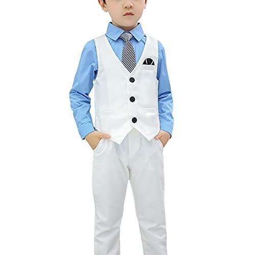 HONGBI Jungen Anzug Hochzeit Kinderanzug Kommunionsanzug Jungen Formale Anzüge Jungen Partei Abschlussball Klage Jungenanzug Festliche Kleidung Set Kinder Gentleman Anzug