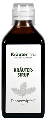 Kräutermax Tannenwipfel Sirup 1 x 200 ml Hustensaft mit Kräuter wie Spitzwegerich und Thymian