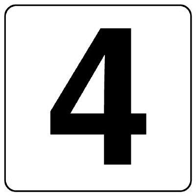 844-84 番号札ステッカー 4 (中) 5枚入