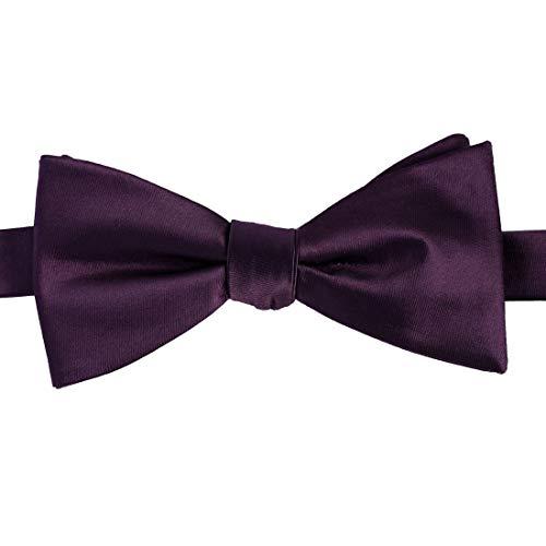 KissTies Boys' Bow Tie Plum Purple Satin Bowtie For Kids Boys Bows + Gift Box