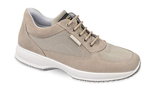 Valleverde Scarpe Uomo Sneakers Tessuto Beige 53851-BEIGE